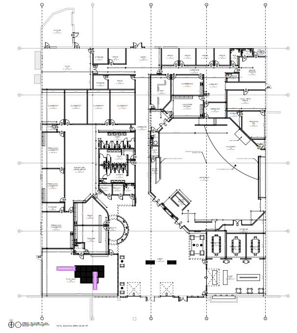 Final floorpan for Moon Valley Bible Church